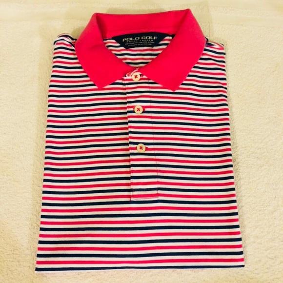 Polo Ralph Lauren Pink & White Stripe Polo Shirt S